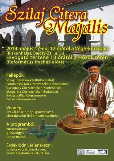 2014-05-17 Plakát Szilaj Citera Majális, Kiskunhalas